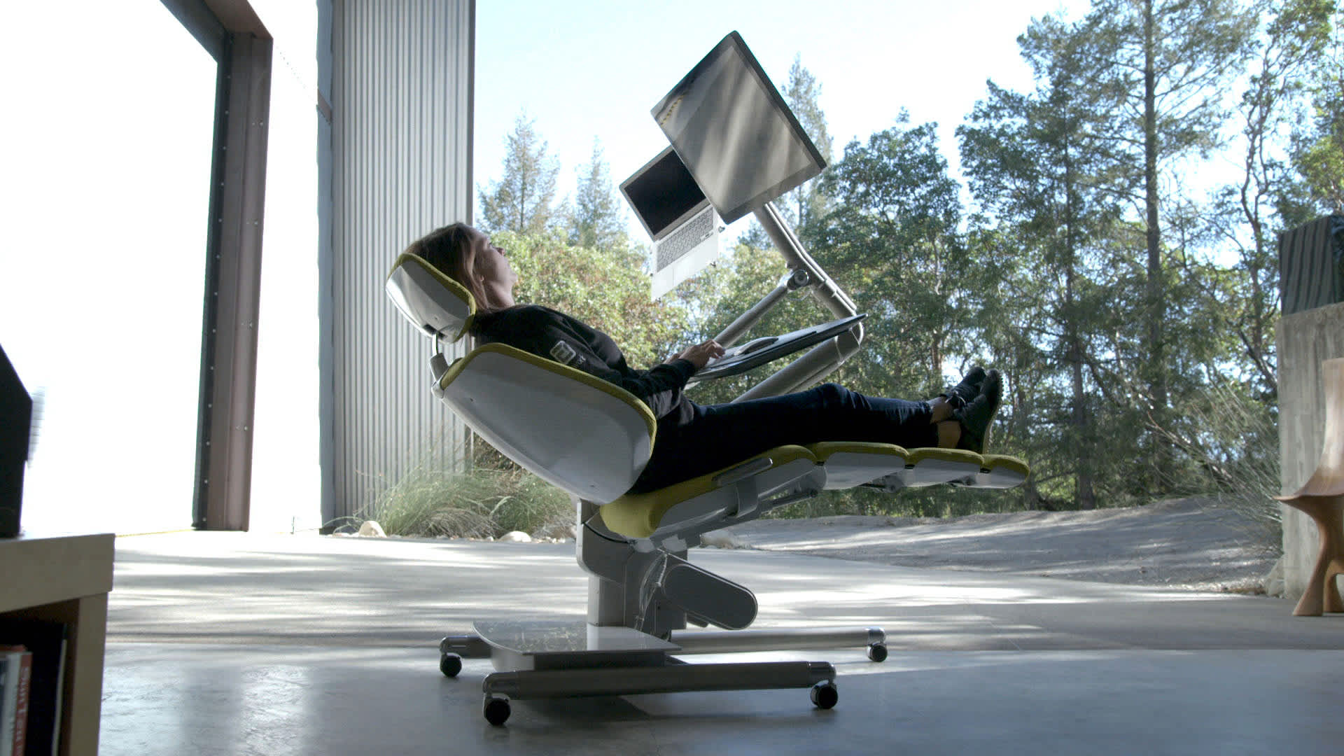 Altwork Station – a convertible (standing to laying down desk) workstation