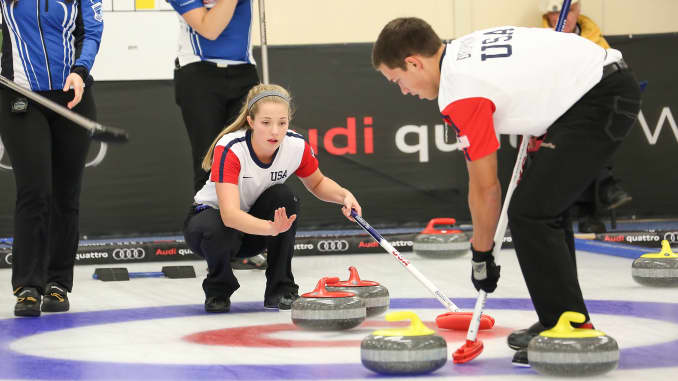 Use Of High Tech Brooms Divides Low Tech Sport Of Curling