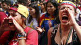 Students take part in a rally against President Nicolas Maduro's government in Caracas on Nov. 21, 2015.