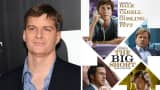 "Michael Burry and a poster for ""The Big Short"" movie."