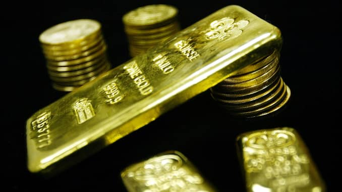 Reusable: Gold bullion bars and coins 030109
