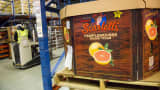 Wonderful Citrus Sweet Scarletts Texas red grapefruit sit in a box for shipment at the company's facility in Mission, Texas. The Wonderful Co. are throwing their marketing muscle at Citrus paradisi, aiming to replicate