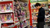 A shopper looks in the toy department of a Target store in Chicago.