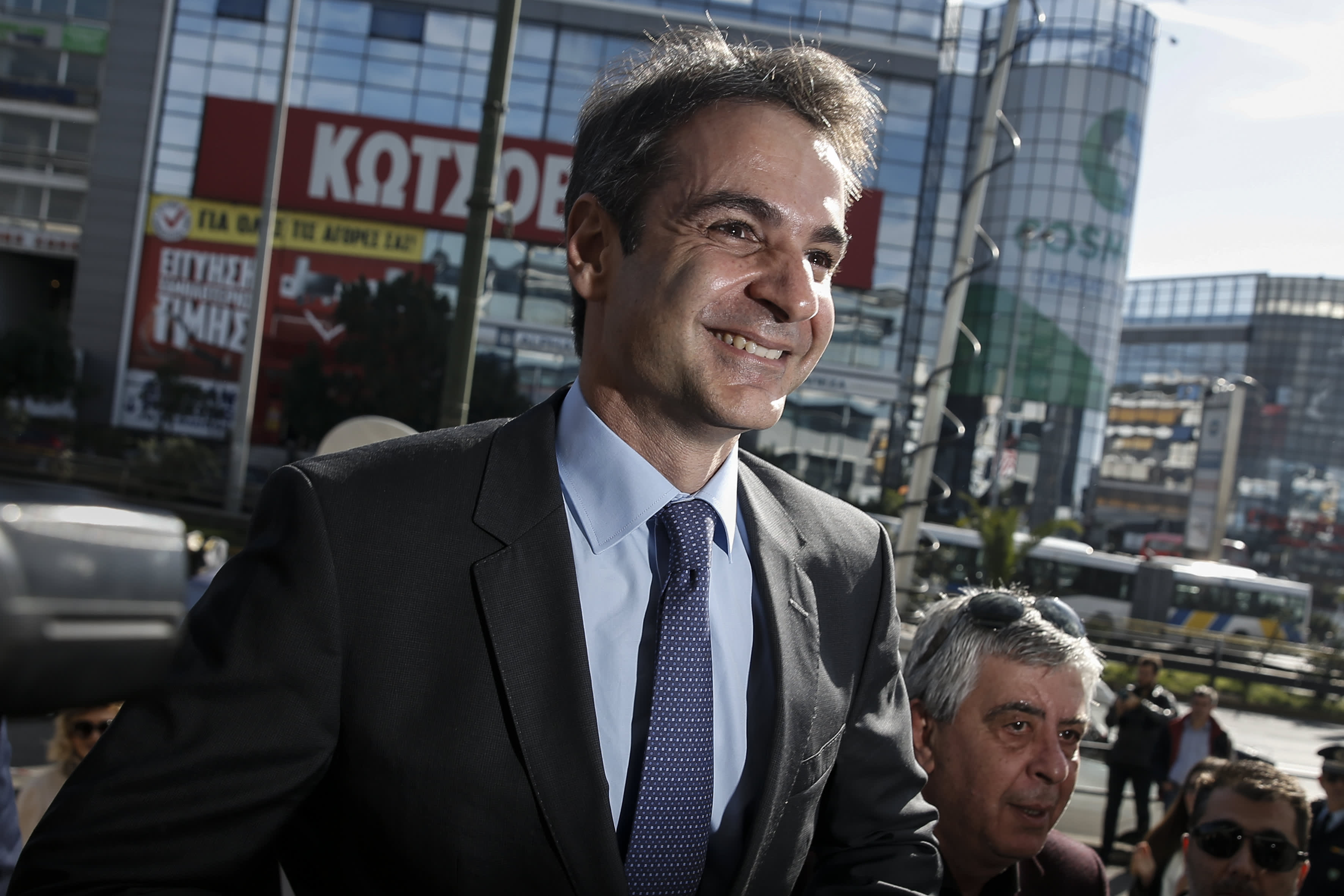 Greece's opposition leader promises lower taxes and 'aggressive' growth as election nears