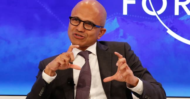 Microsoft CEO Satya Nadella named chairman of the board