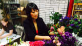 Rachel Cho, of New York City-based Rachel Cho Floral Design, is part of The Bouqs Co.'s on-demand network of florists.