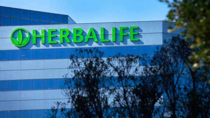 Herbalife shares sink after former CEO caught on tape