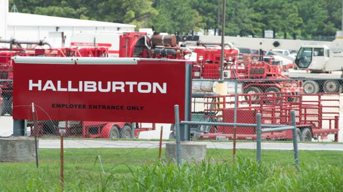 Halliburton third-quarter profit edges past estimates