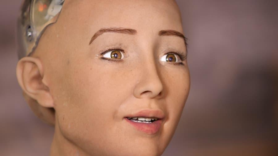 Sophia, a female android from Hanson Robotics