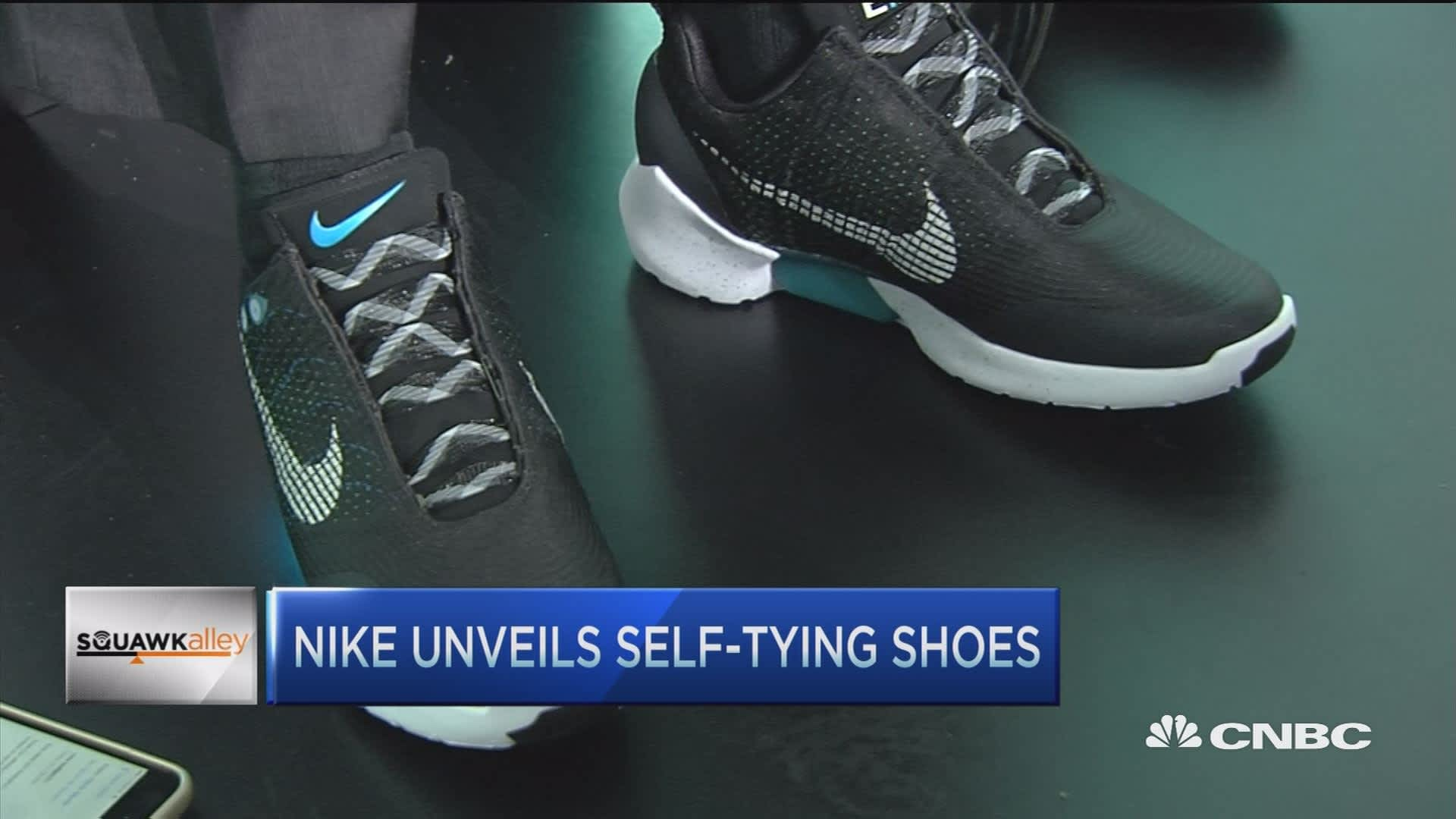 Nike designer Self,tying shoes a big step forward