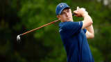 Jordan Spieth of the United States hits his tee shot on the ninth hole during the first round of the Shell Houston Open at the Golf Club of Houston on March 31, 2016 in Humble, Texas.