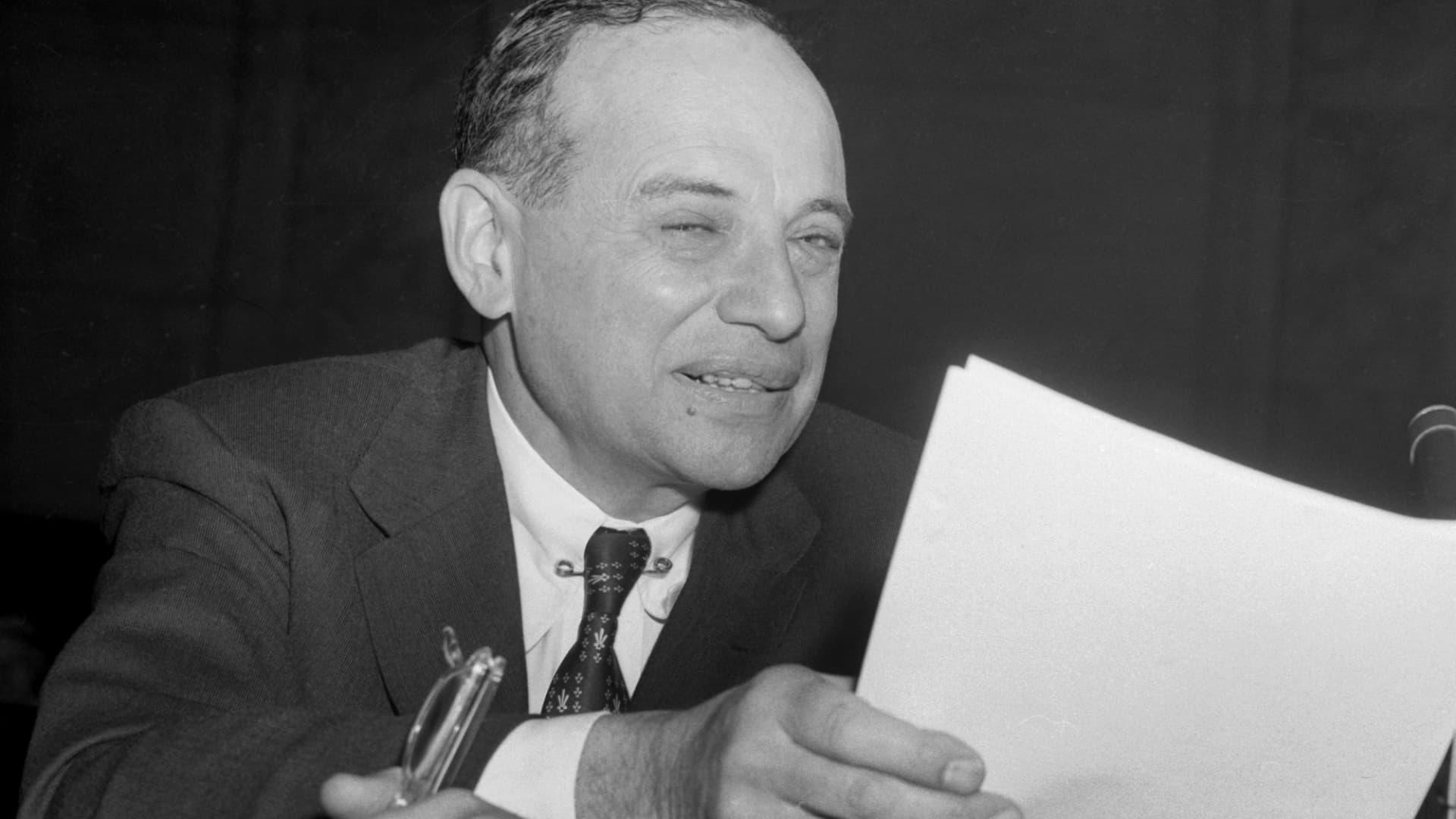 Benjamin Graham in 1955