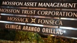 The sign in front of the building that houses Mossack Fonseca in Panama City. The law firm has been at the center of the Panama Papers scandal.