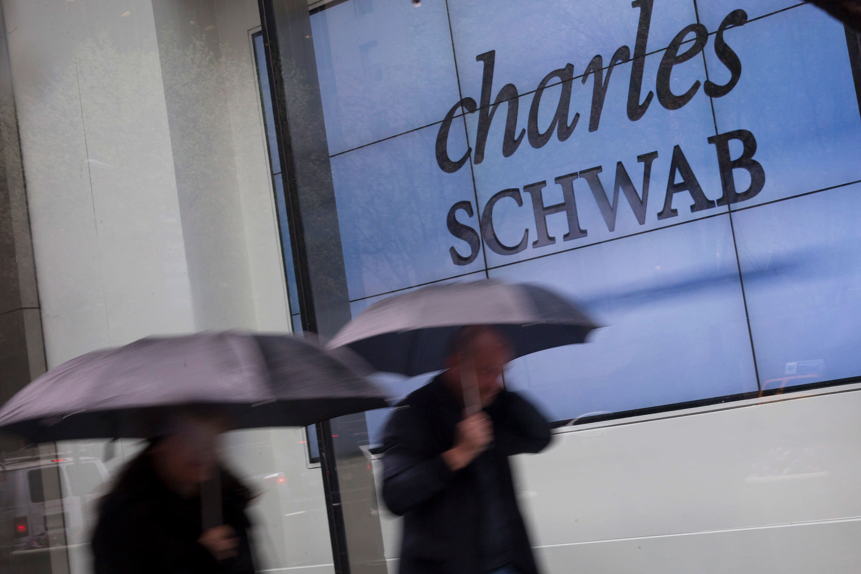 Charles Schwab is ending commissions on stock trading and the brokerage shares are tanking