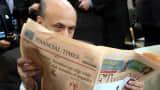 "Businessman reading ""Financial Times"""