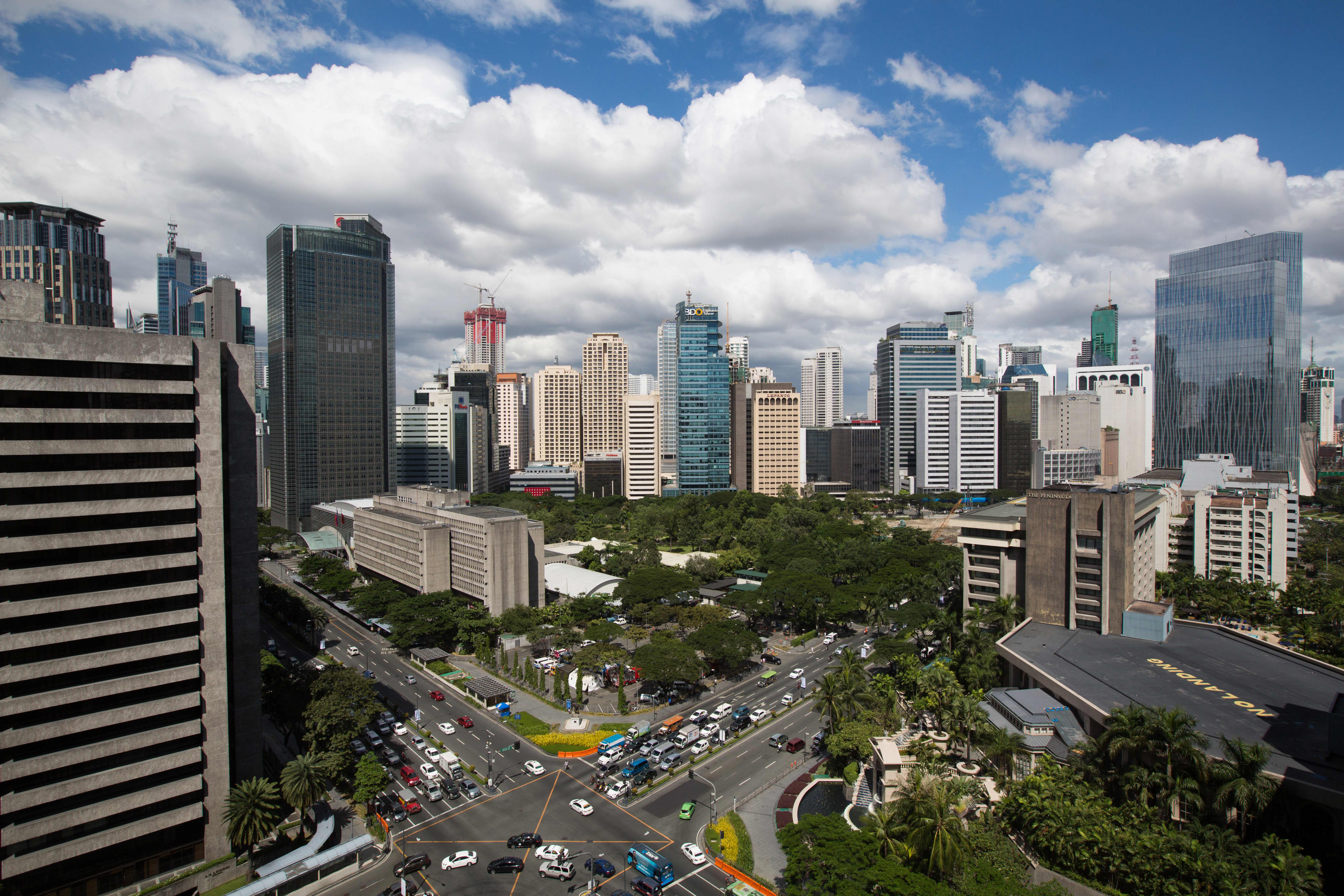 The Makati central business district of Manila where Ayala Land is building new residential developments, office buildings and hotels.