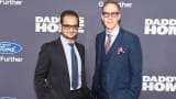 Executive Producers Riza Aziz (L) and Joey McFarland attend the 'Daddy's Home' New York premiere on December 13, 2015.