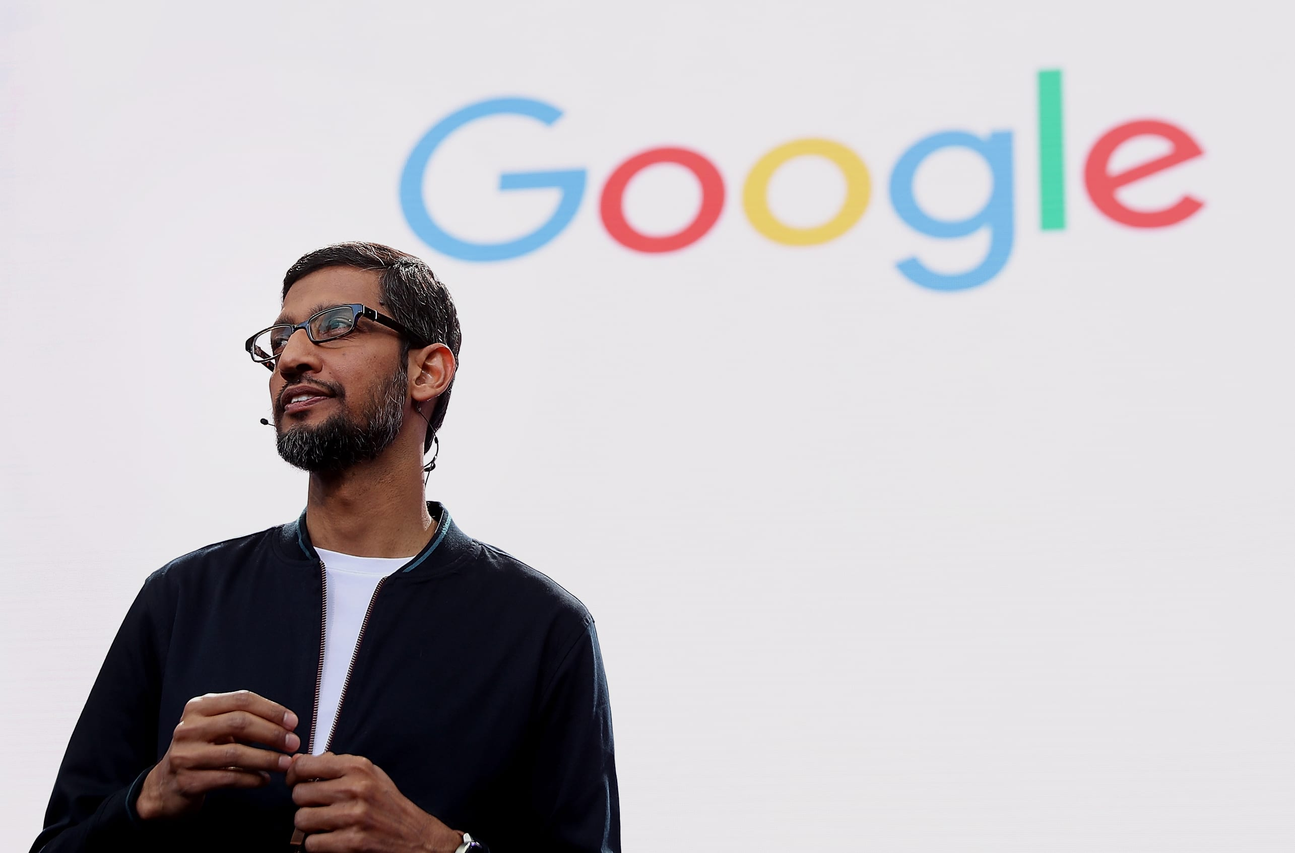 GP: Google CEO Sundar Pichai speaks during Google I/O 2016 at Shoreline Amphitheatre