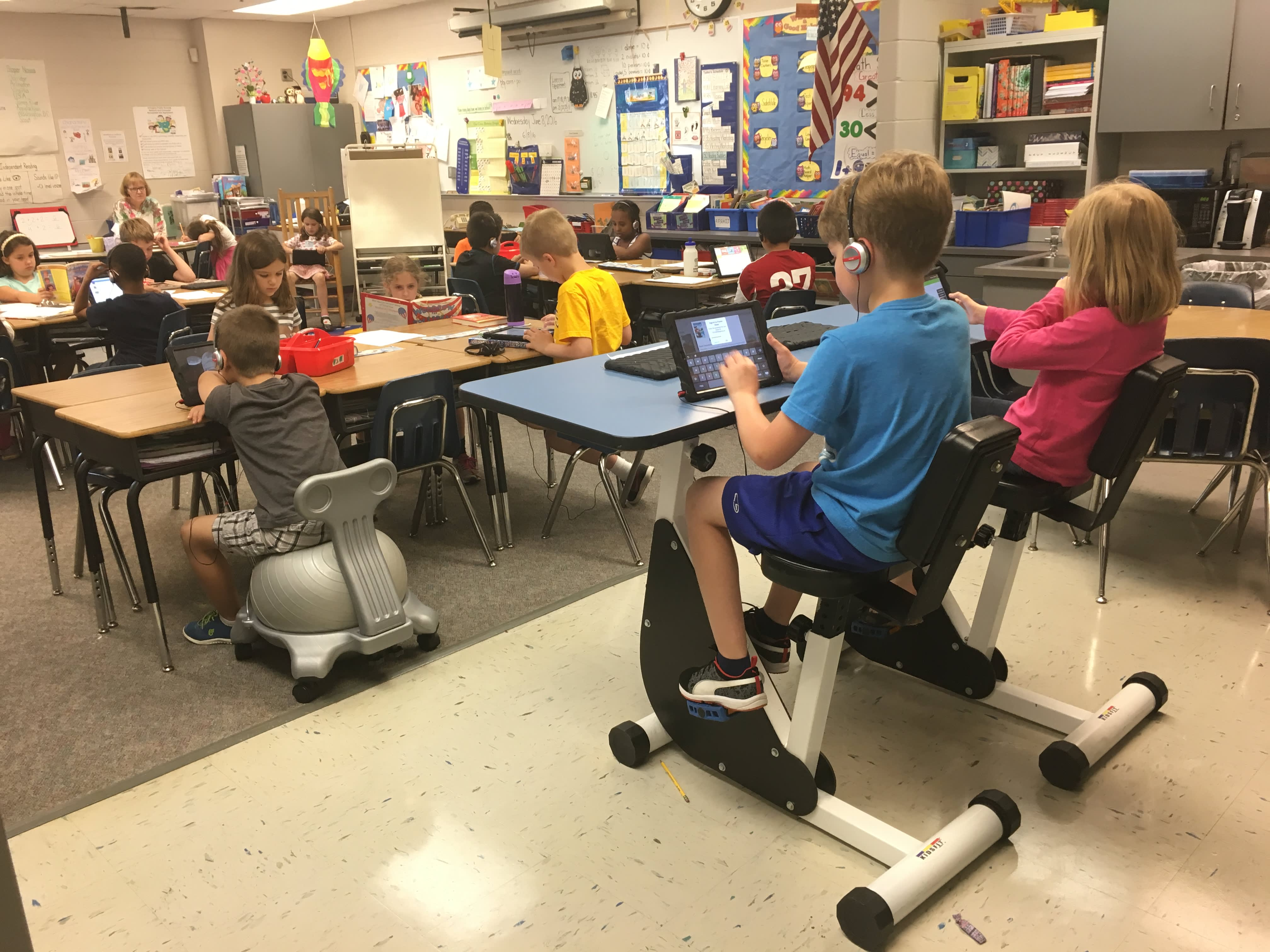 Fit classrooms: Exercise moves from gym to desk
