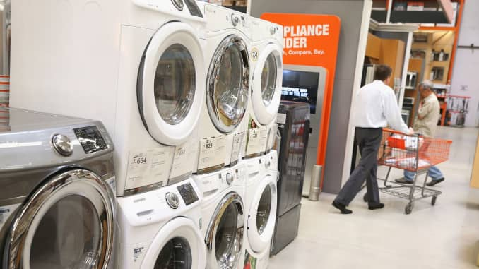 GP: Appliances for sale at Home Depot durable goods 140528