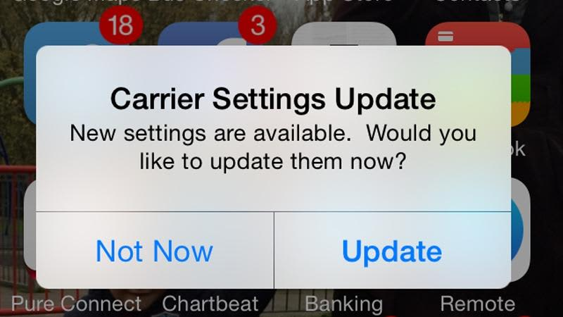 What is this 'Carrier Settings Update' on my iPhone, iPad?