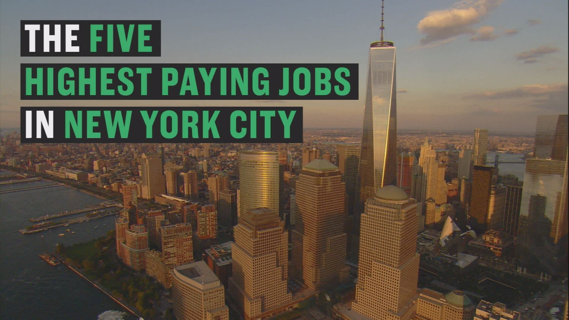 The 15 highest-paying jobs in New York City