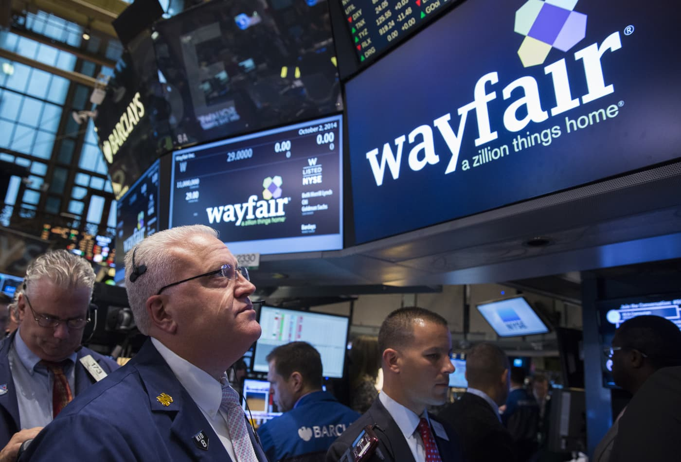 Stocks making the biggest moves midday: Wayfair, Western Union, RH, Facebook and more