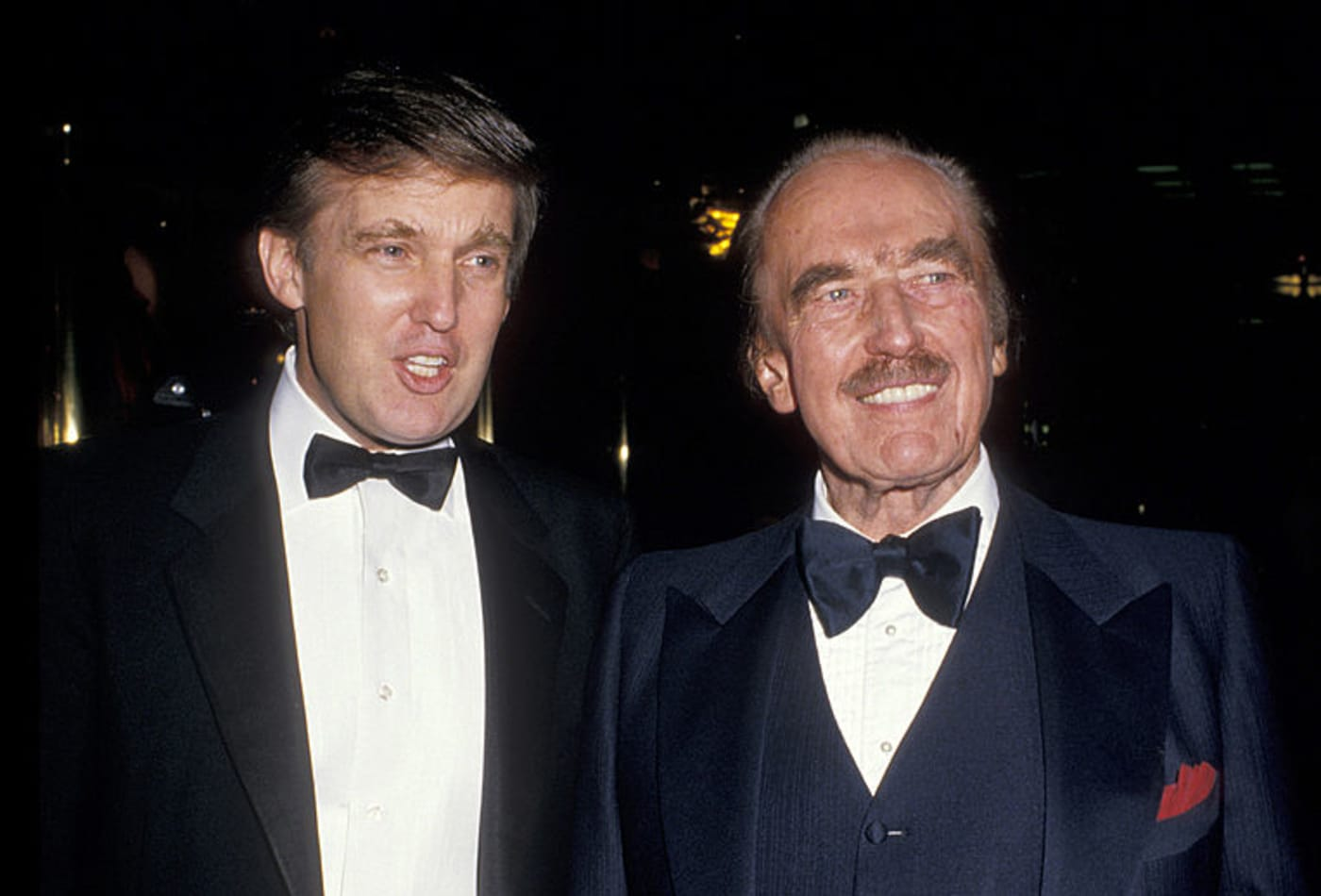 Donald Trump and Fred Trump in December, 1987.