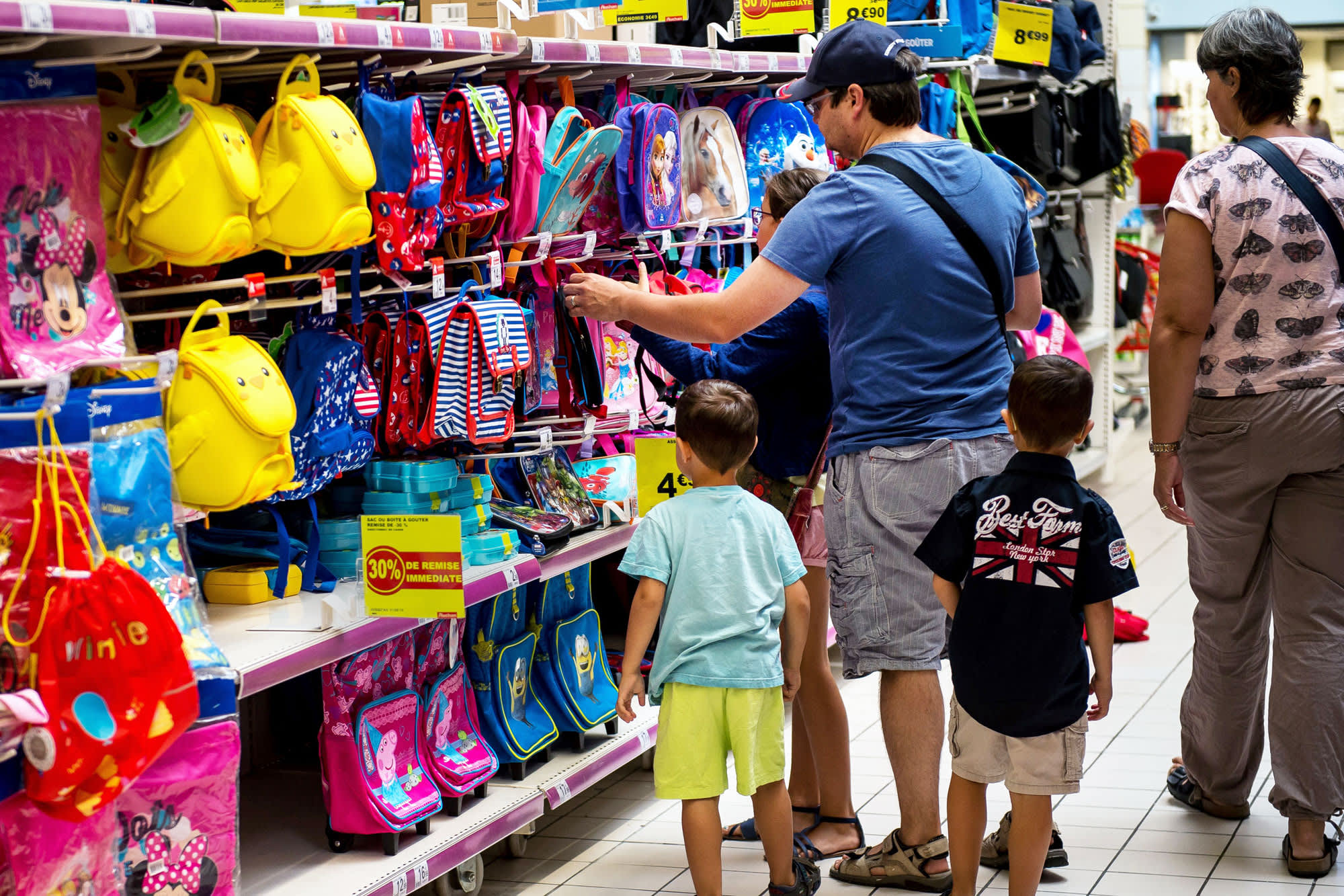 Millennial parents fight pressure to overspend on back-to-school shopping