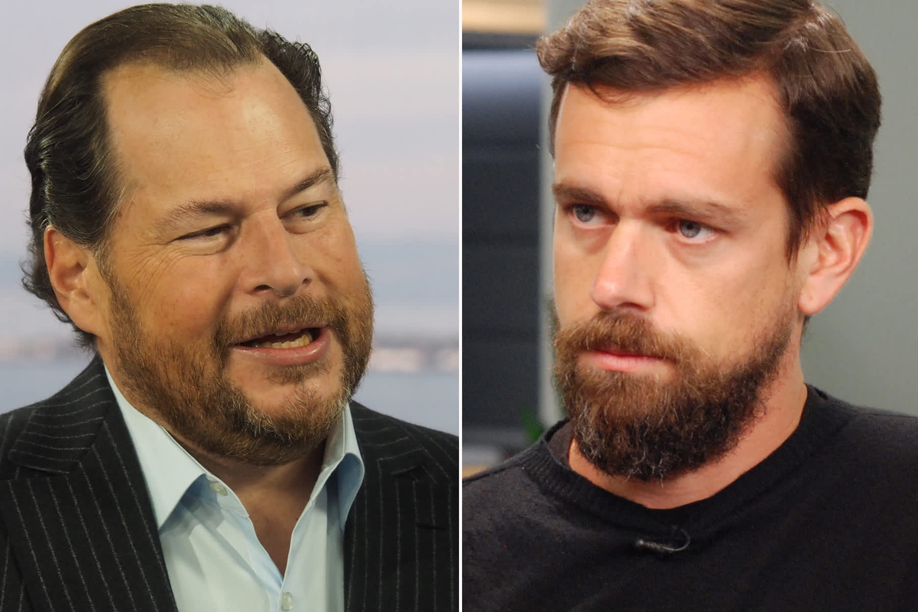 Marc Benioff was pushing for Salesforce to buy Twitter — until an accident changed his mind