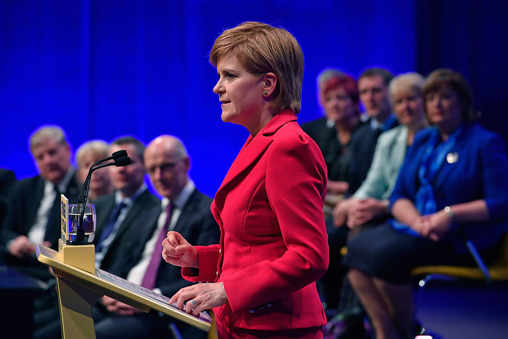 Scottish National Party leader says Boris Johnson has no mandate to take Scotland out of the EU and demands independence vote