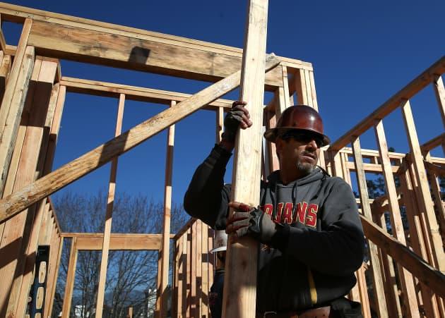GS: Homebuilder home building sentiment construction worker Petaluma Calif