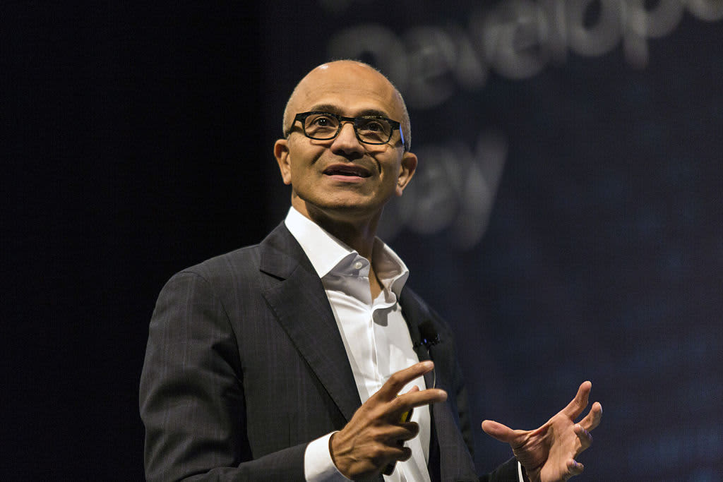 Microsoft CEO Satya Nadella: for the future of chat bots, look at the insurance industry