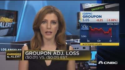 Groupon Q3 EPS adj  loss, revenues beat