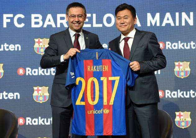 07dfa17f3 Barcelona sign new four-year sponsorship deal with Rakuten