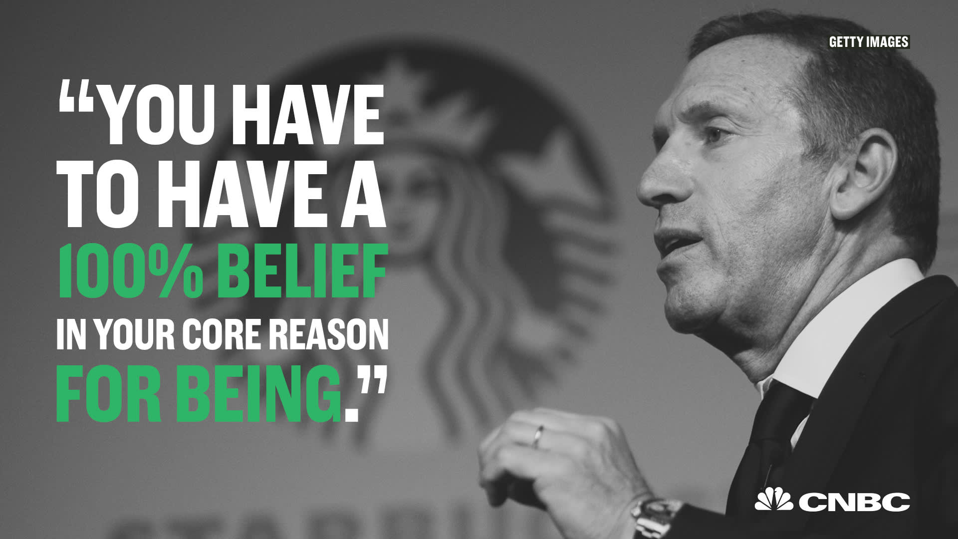 Inspirational quotes from Starbucks CEO Howard Schultz