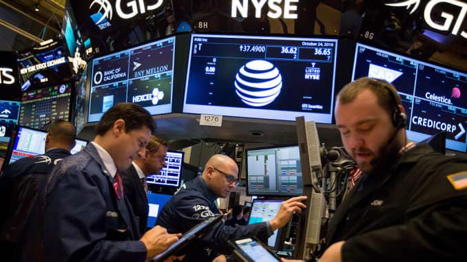 高级EA:纽约证券交易所场内交易,因为美国股市在收益交易活动中攀升 -  AT&T