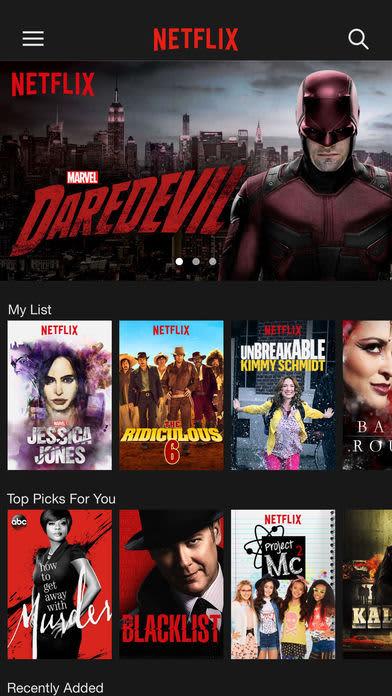 Handout: Netflix app