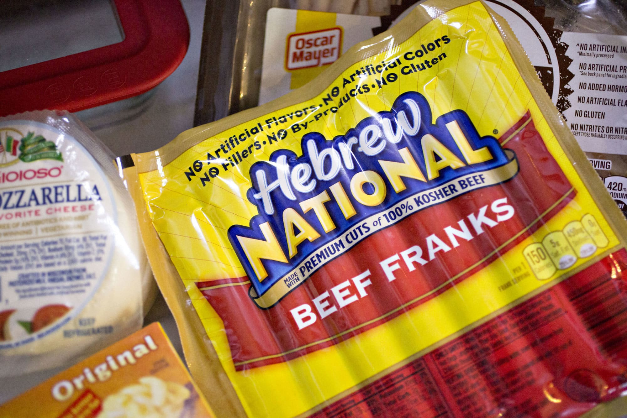A package of ConAgra Foods' Hebrew National brand beef franks.