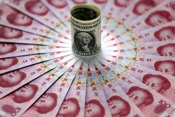 Reusable Chinese yuan in circle