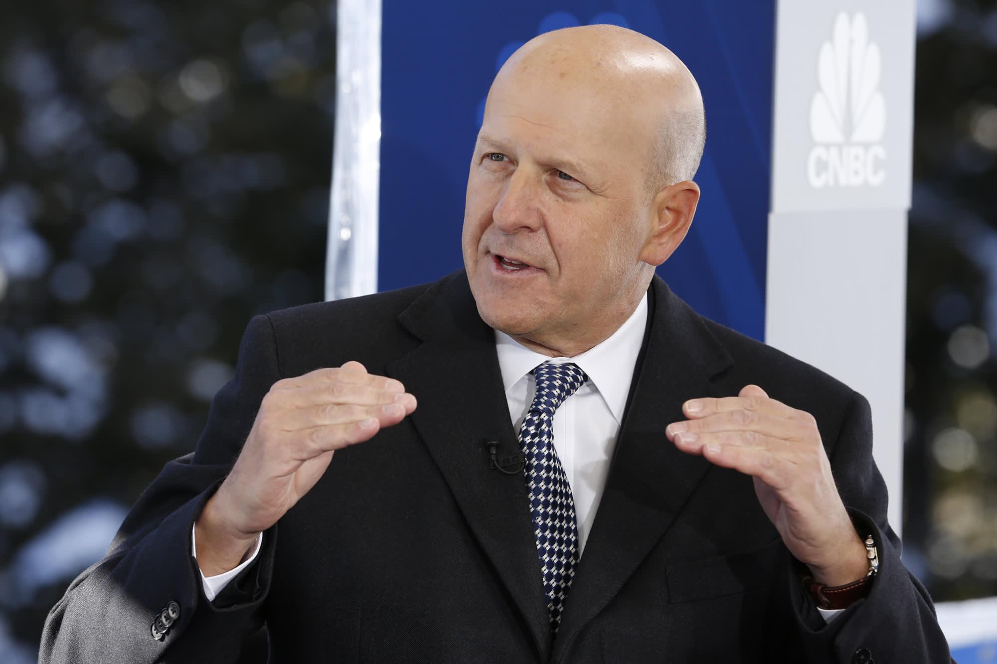 Goldman shares rise as CEO Solomon says client activity 'more constructive' after slow start