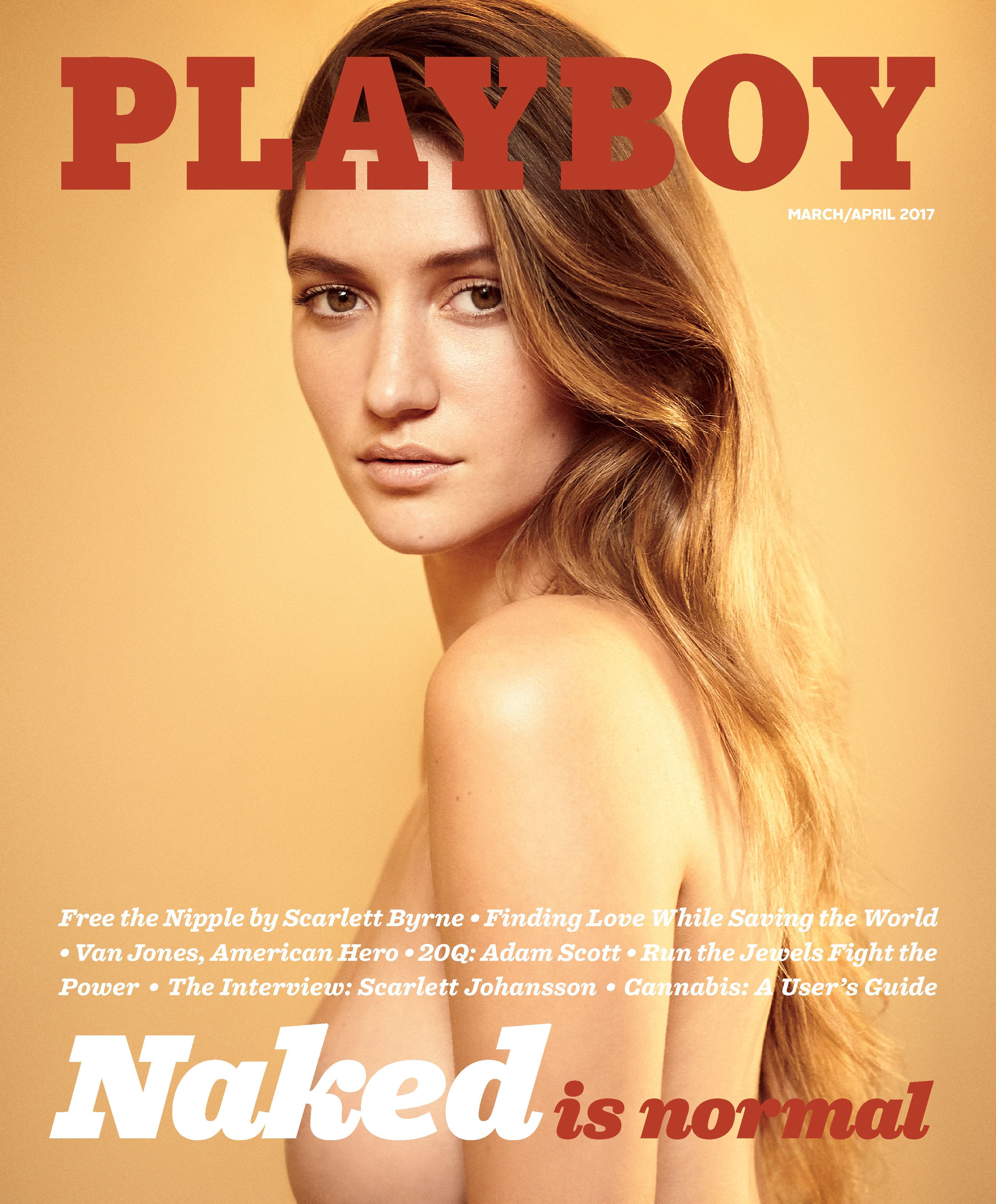 Handout: Elizabeth Elam, on the cover of Playboy 170213