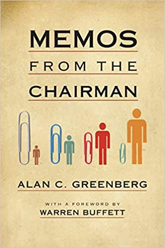 Book cover: Memos from the chairman