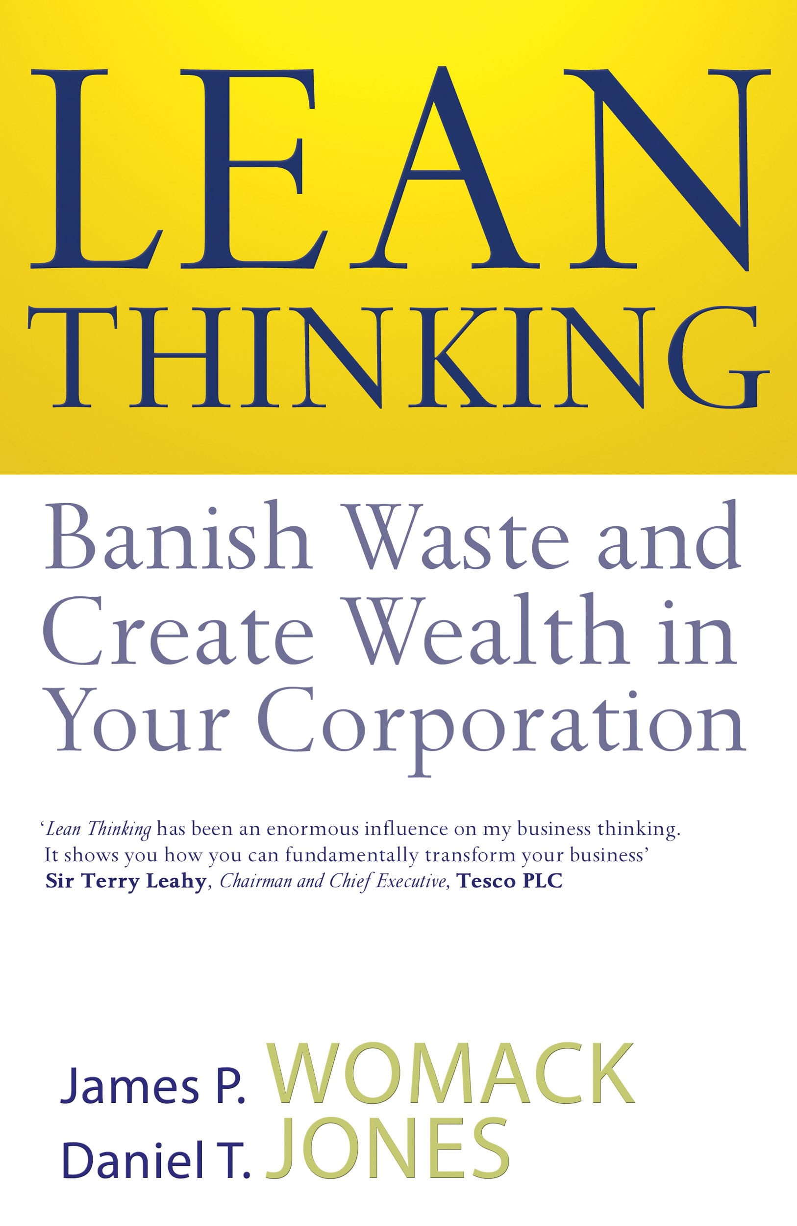 Book cover: lean thinking