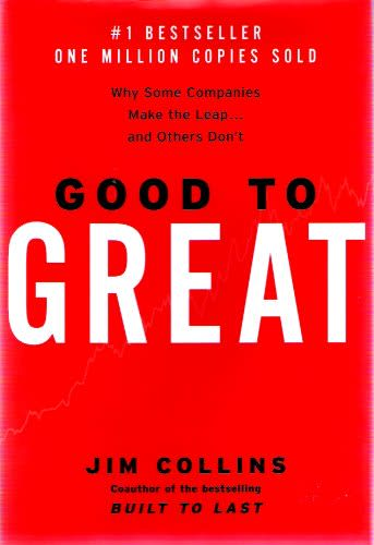 Book Cover: good to great