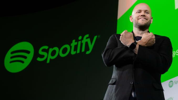 Daniel Ek, giám đốc điều hành và đồng sáng lập Spotify AB.