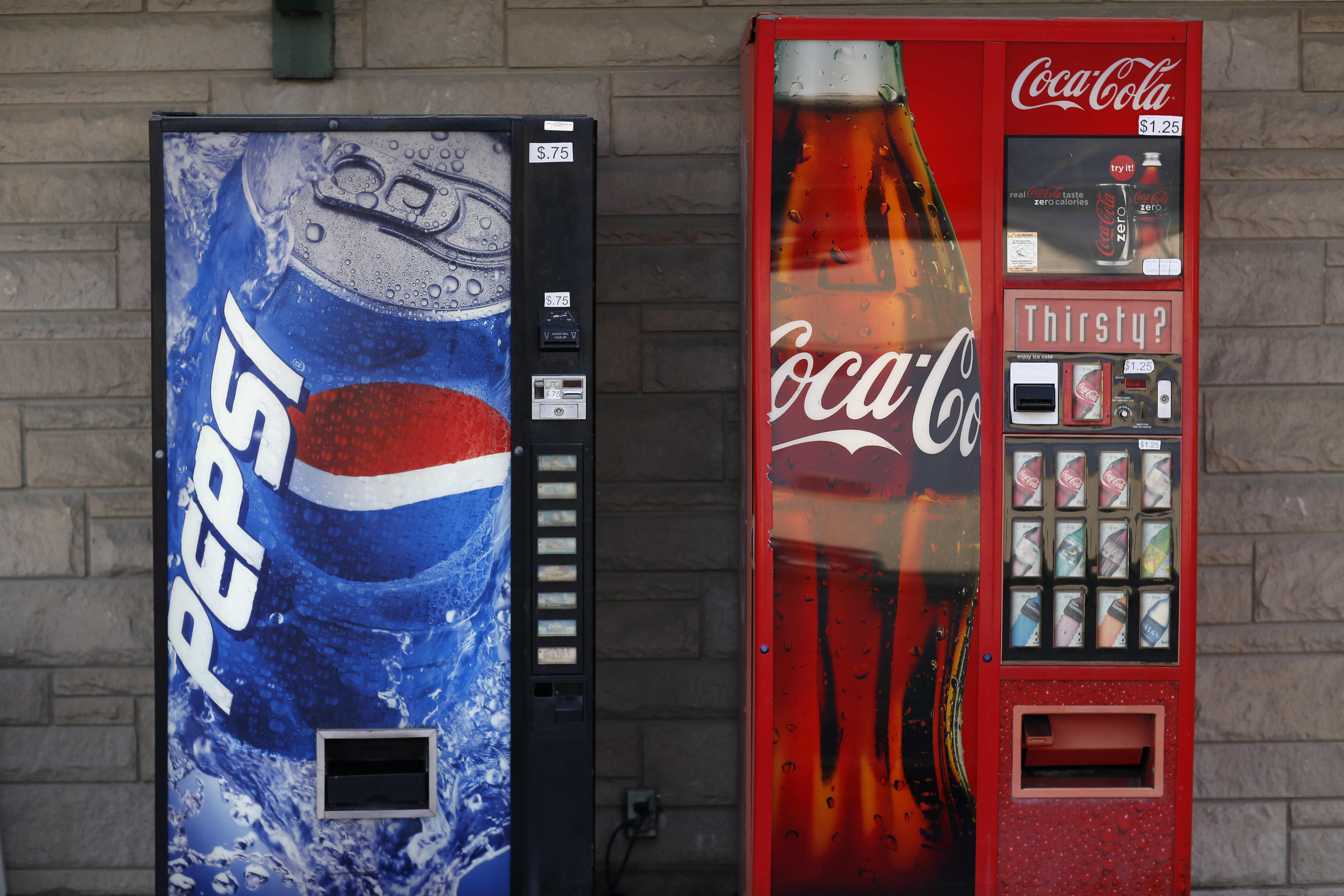 GP: Coca-Cola Pepsi vending machines soda pop sales