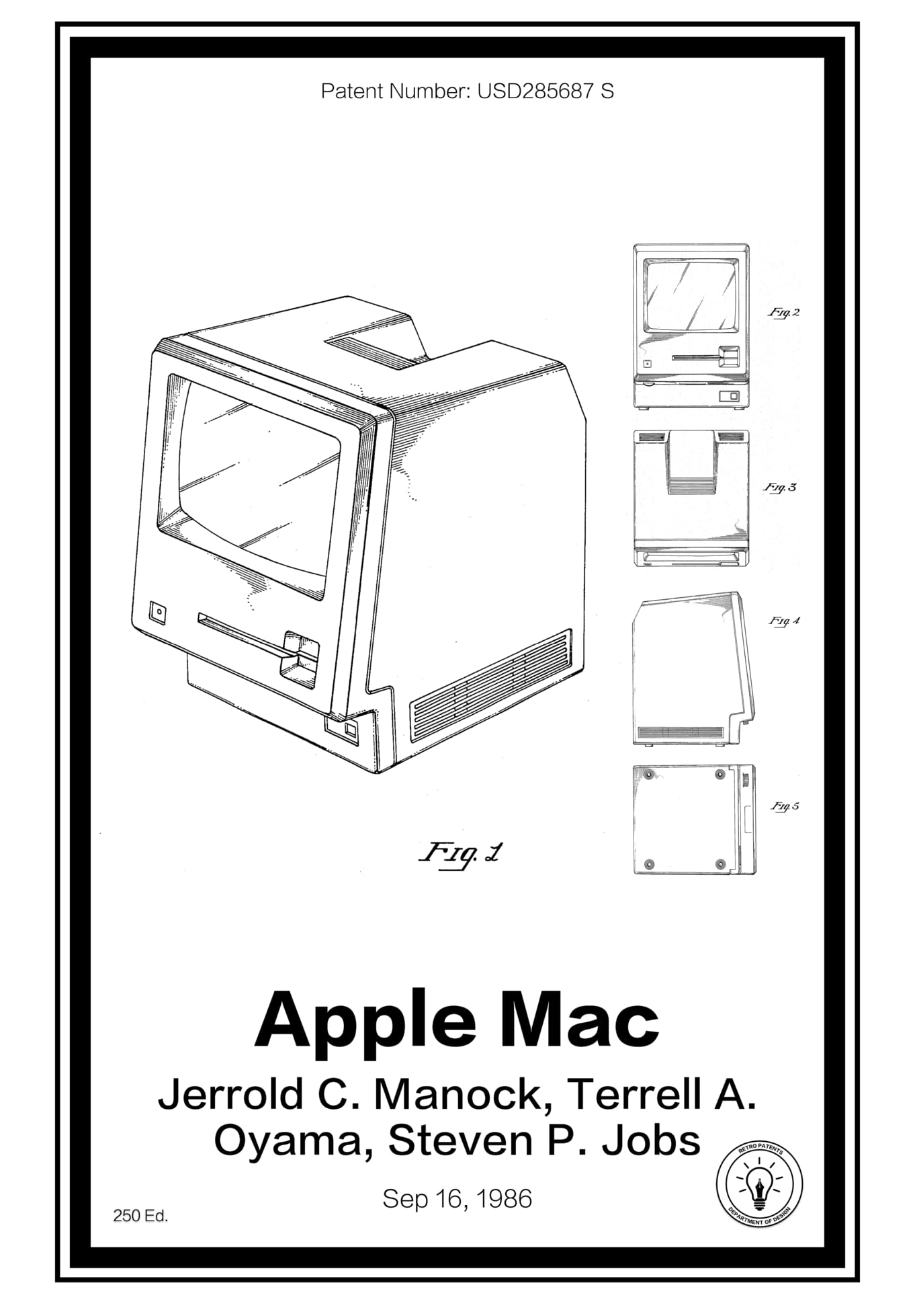 ONE TIME USE: Apple Mac Computer patent