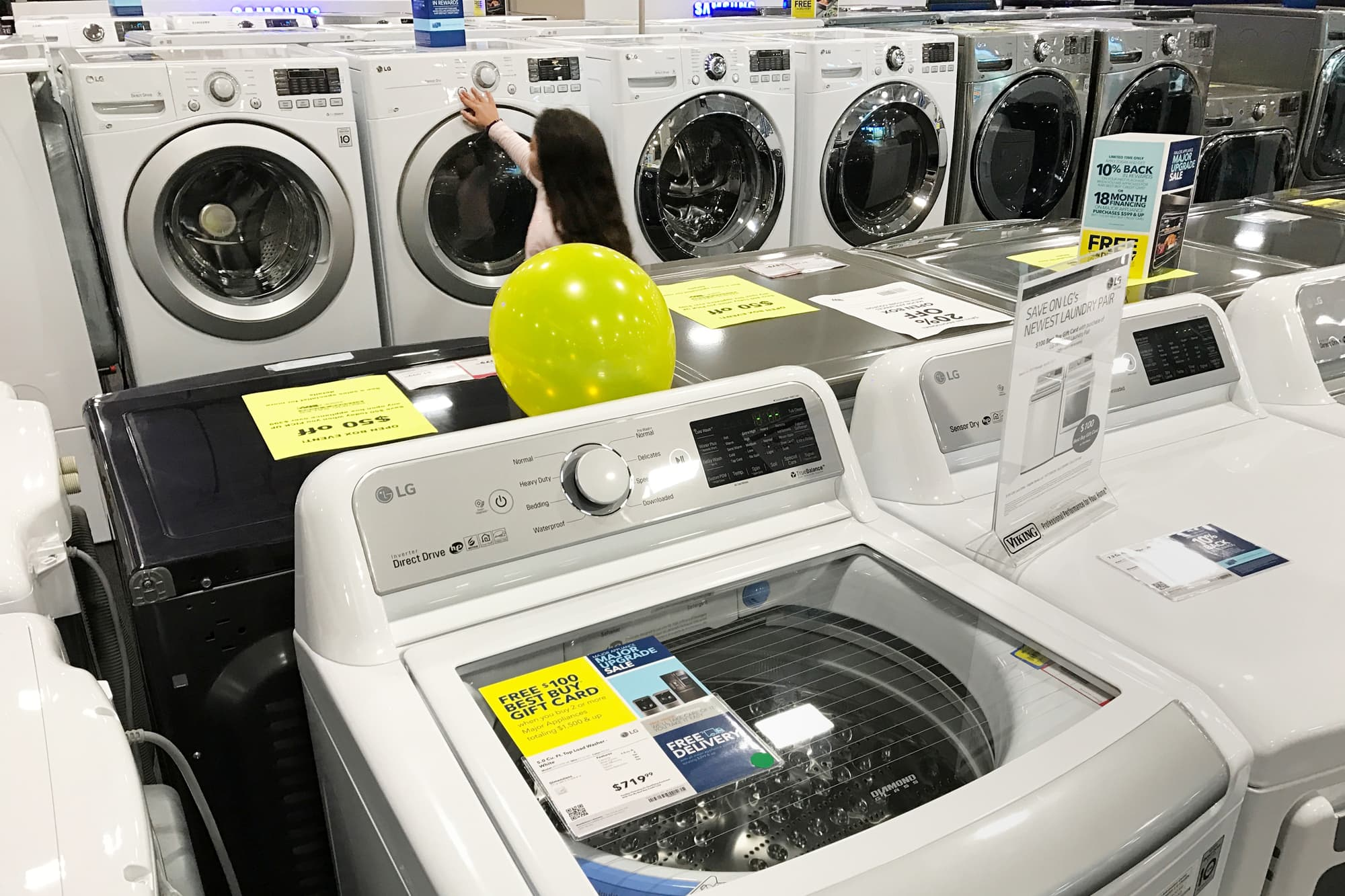 Durable goods on sale in Los Angeles.