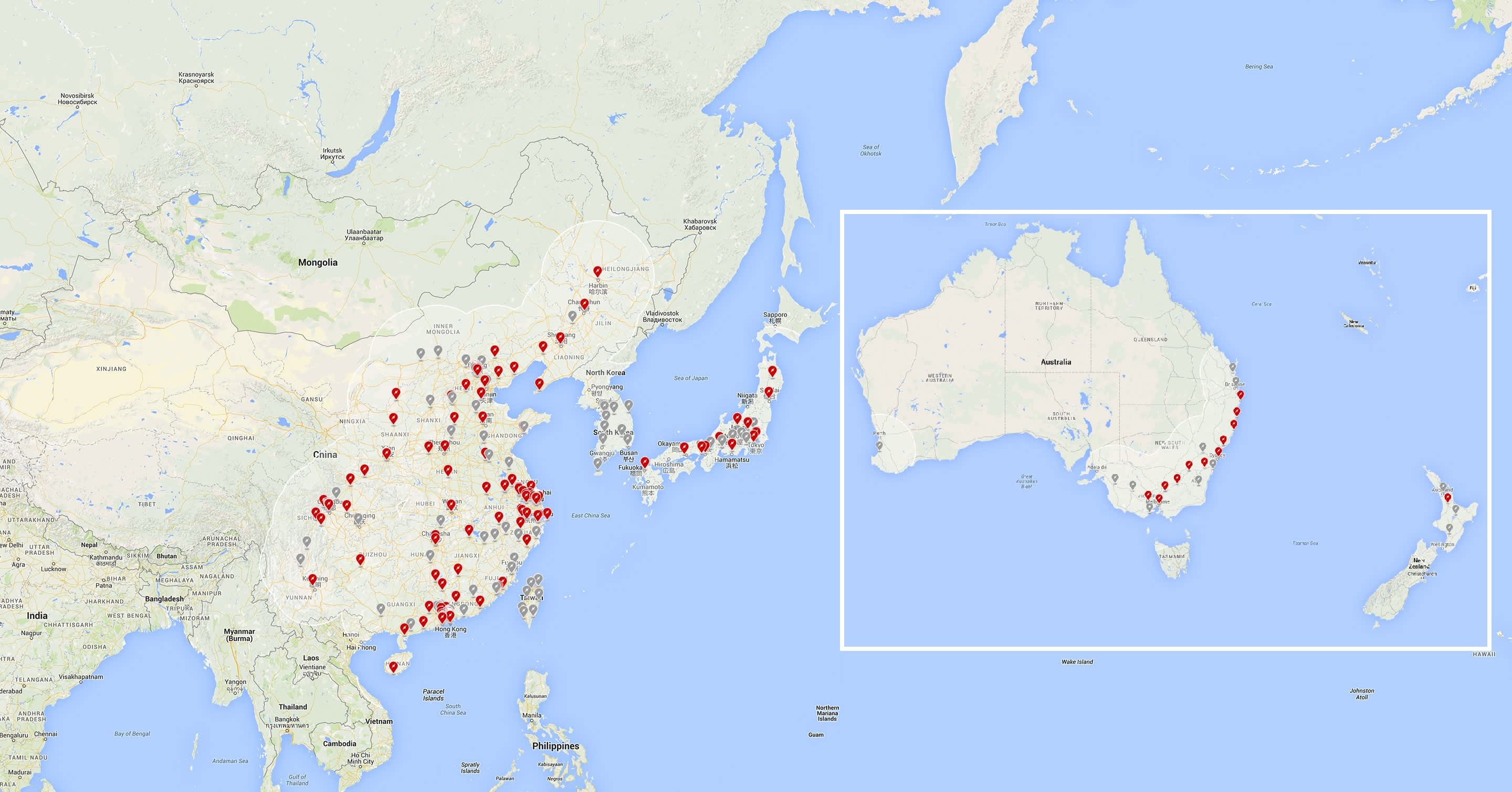 Tesla Supercharger site Asia